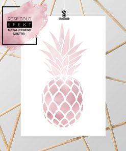plakat z ananasem