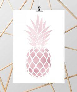 Plakat z motywem ananasa