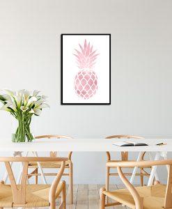 Różowo-złoty plakat do kuchni