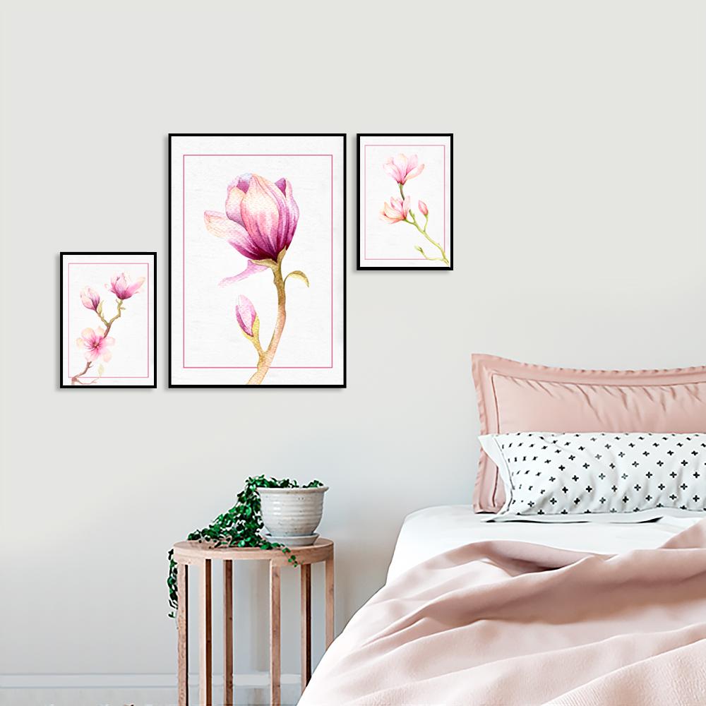 tryptyk z magnolią galeria plakatów