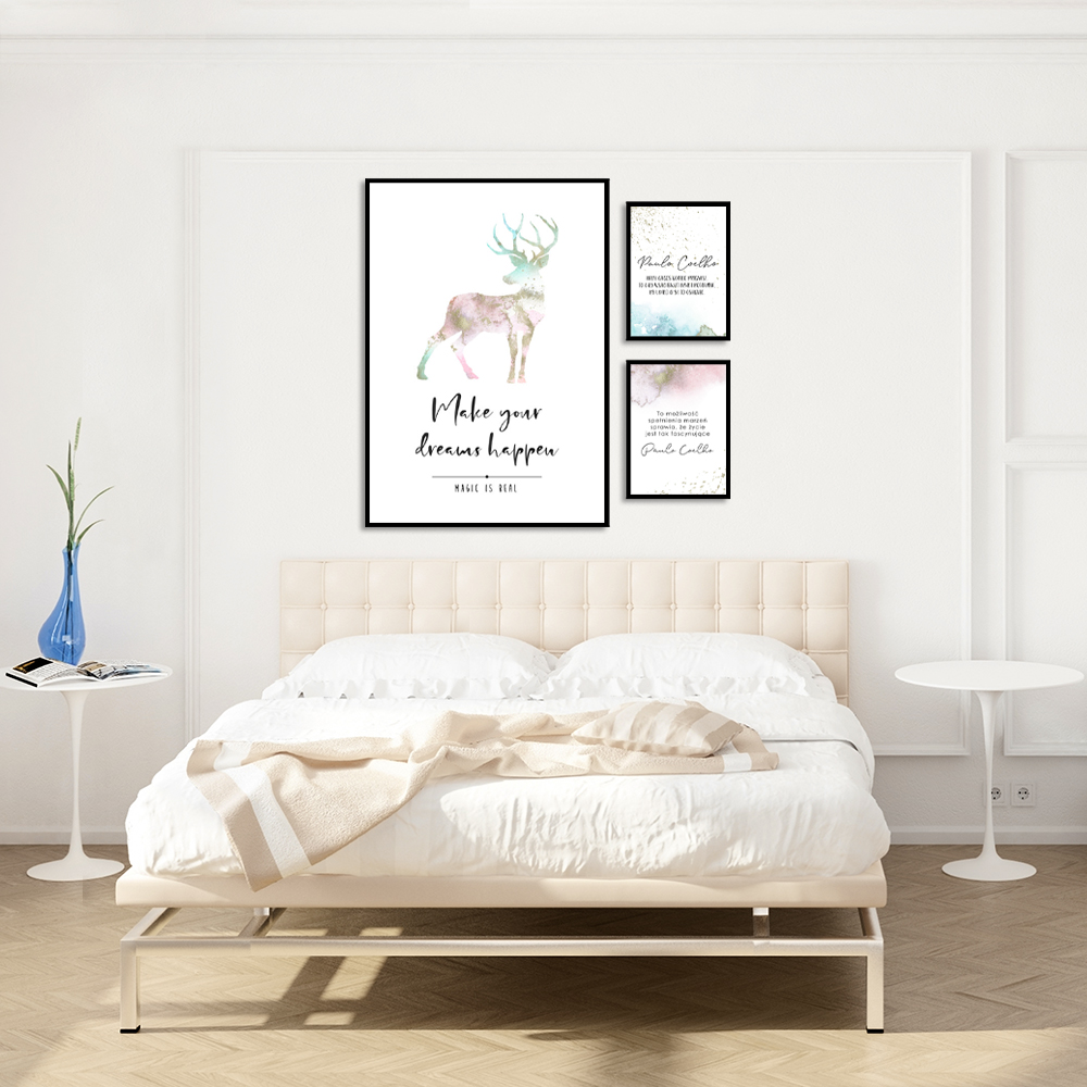 zestaw plakatów z cytatami palolo coelo