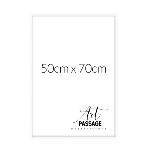 biała rama do plakatu 50x70