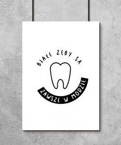 Typograficzny plakat do gabinetu stomatologicznego