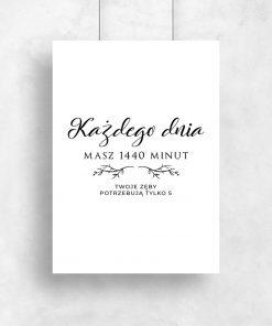 Typograficzny plakat dla stomatologa