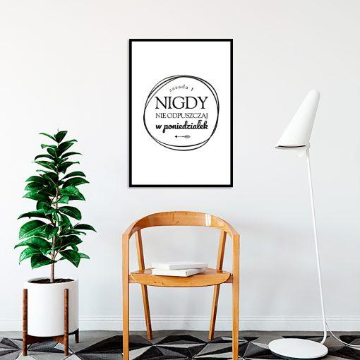 Biało-czarny plakat do biura