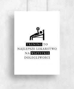 Plakat typograficzny na siłownię