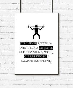 Plakat motywacyjny na ścianę do siłowni