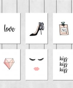 Kobiecy komplet plakatów do sypialni