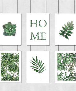 Plakaty z motywem liści do salonu