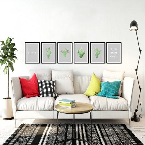 Seria plakatów na ścianę do salonu