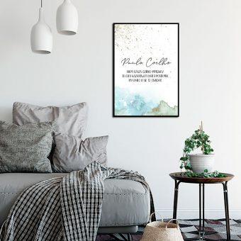 Plakat kiedy czegoś gorąco pragniesz - Paula Coelho