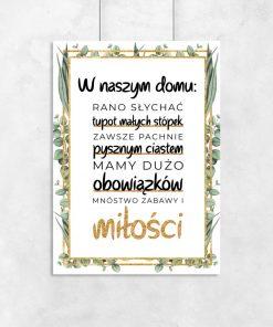 Plakat z motywem napisu do salonu