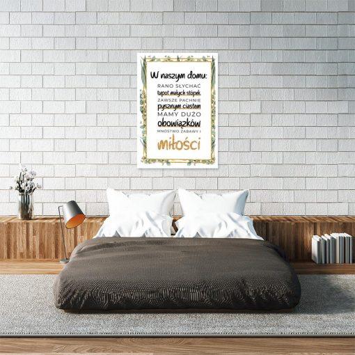 Plakat z napisami do sypialni