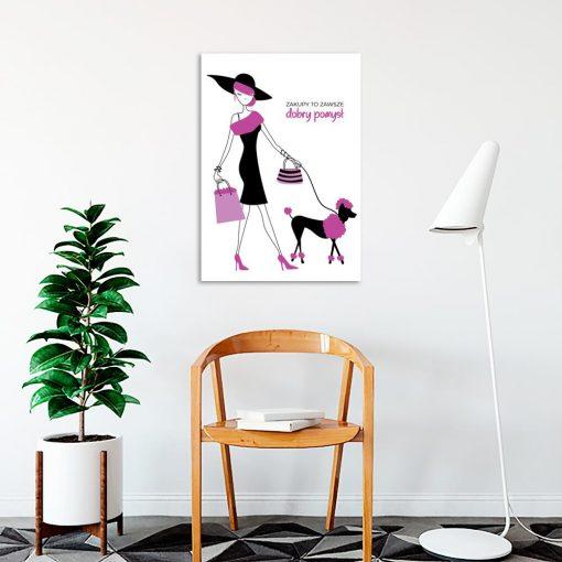 Plakat glamour do poczekalni