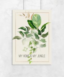 Plakat botaniczny do ozdoby salonu
