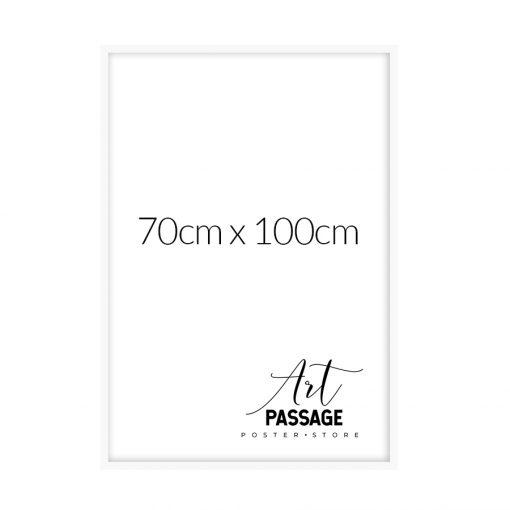biała rama do plakatu 70x100