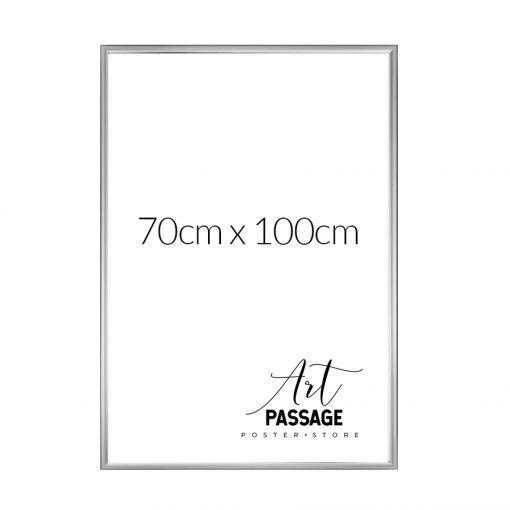 srebrna rama do plakatu 70x100