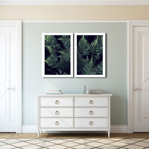 Dyptyk w kolorze zieleni do salonu