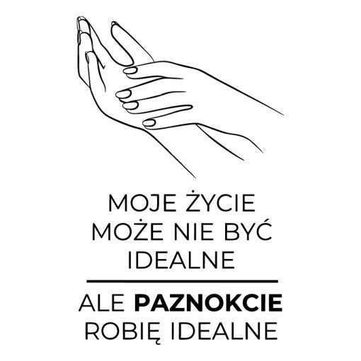 Naklejka dłonie i napis o paznokciach
