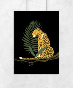 Plakat z motywem geparda