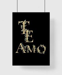 Plakat te amo
