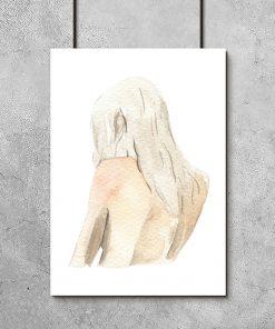 Plakat z ilustracją kobiety