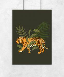 Plakat egzotyczne zwierze