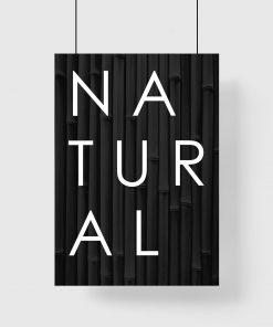 Plakat z napisem natural
