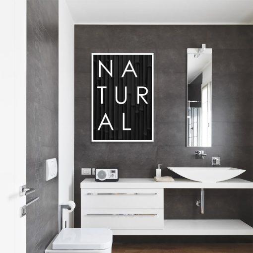Plakat motyw napisu Natural