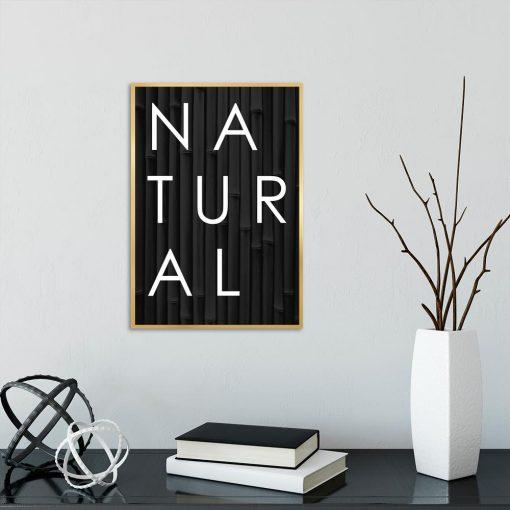Typograficzny plakat - Natural