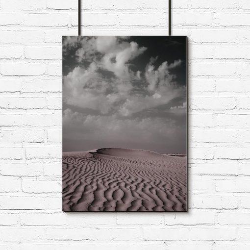 Plakat z pustynią