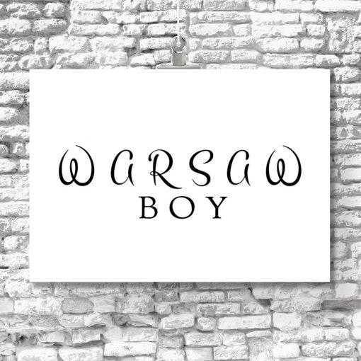 Plakat z motywem Warszawy