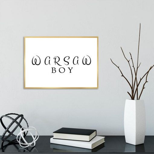 Plakat Warsaw boy