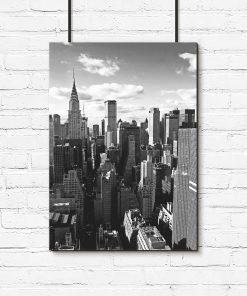Plakat panorama wieżowców Nowego Jorku