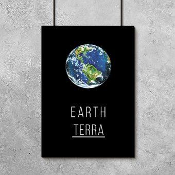 Plakat planeta Ziemia