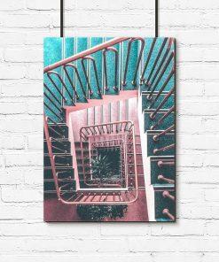 Plakat schody i poręcze