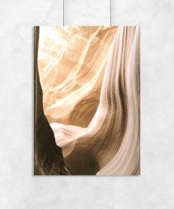 Plakat skały kanion antylopy