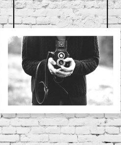 Plakat z motywem aparatu