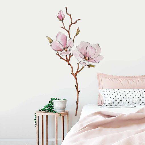 Naklejka na ścianę z motywem kwiatu