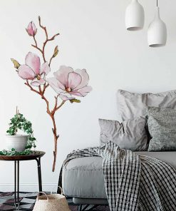 Naklejka gałązka magnolii