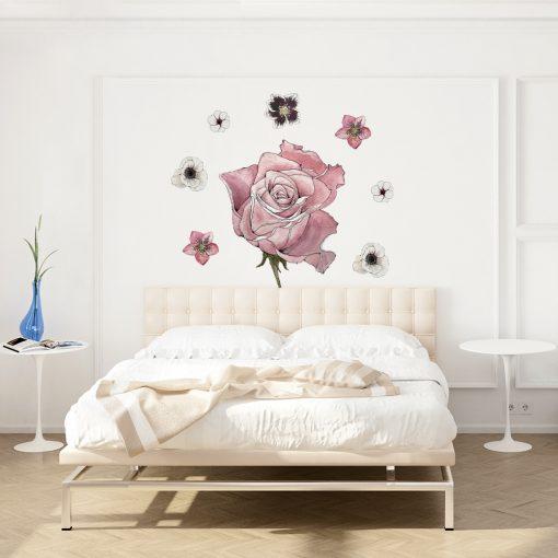 Naklejka różowa