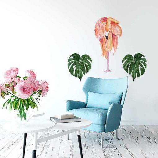 Naklejka na ścianę flamingi
