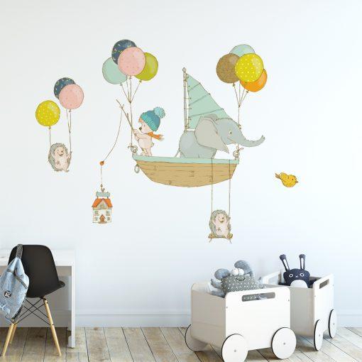 Naklejka ścienna z motywem balonów