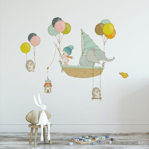 Naklejka na ścianę z balonikami