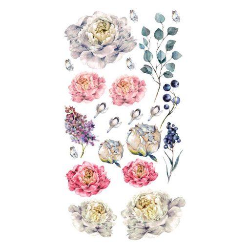Naklejka na ścianę z kwiatami