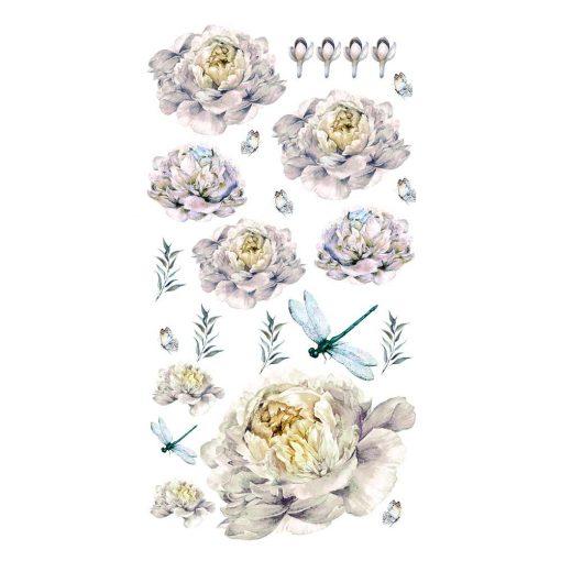 Naklejka z motywem ważek i kwiatów