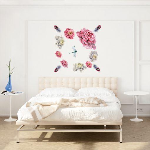 Naklejka kwiaty piwonii