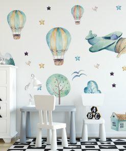 Naklejka na ścianę z motywem balonów
