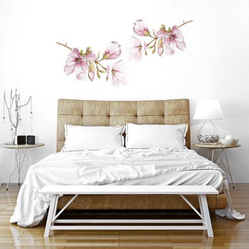 Naklejka ścienna z motywem magnolii