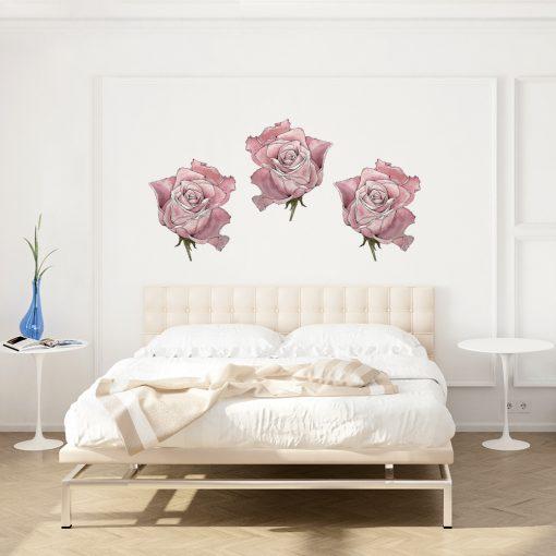 Naklejka na ścianę z motywem róż